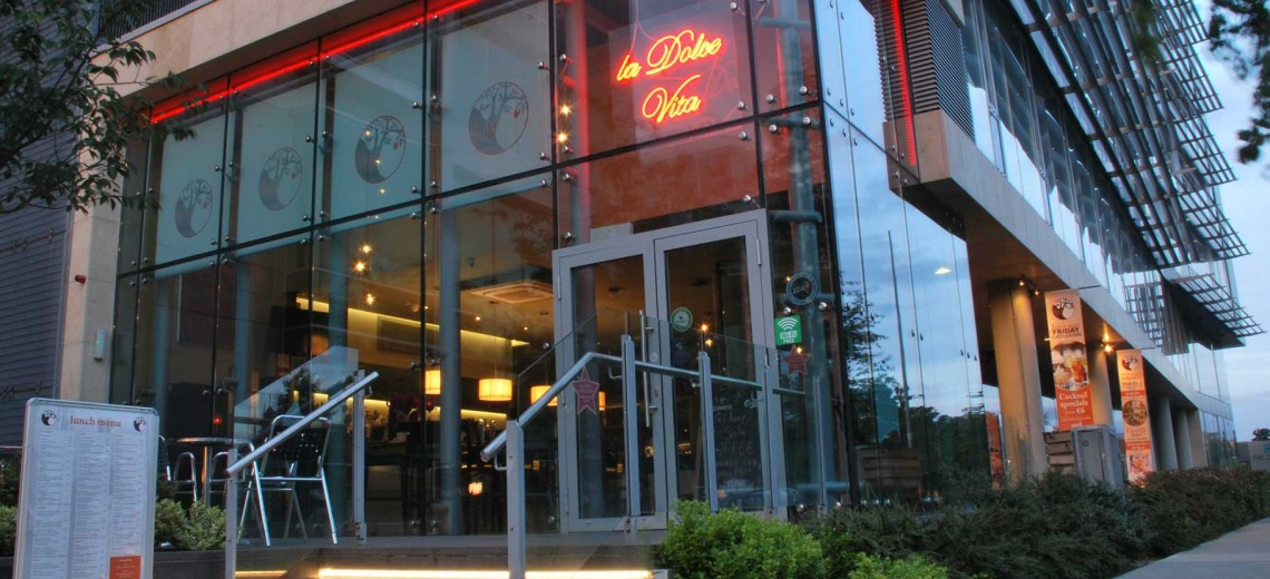 From a shell We built a beautiful restaurant in the heart of Sandyford co. Dublin an up coming area on the South side.